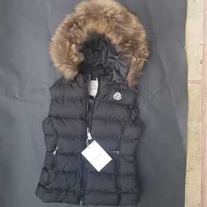 moncler vest fox fur